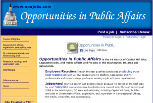 Opportunities in Public Affairs