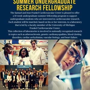Summer Undergraduate Research Opportunity at University of Michigan Frankel Cardiovascular Center
