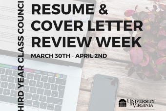 Third Year Council  - Resume & Cover Letter Review Week