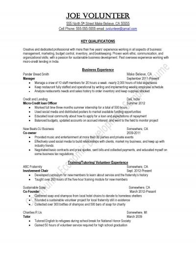 Peace Corps Community Development Sample Resume