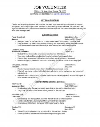 Peace Corps Community and Economic Development Sample Resume