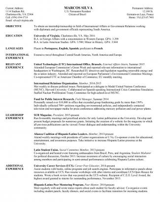 General Resume Example - Marcos