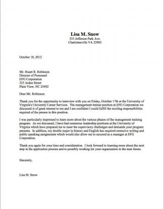 ThankYou_Lisa_Snow Sample Follow Up Letter For Job Application Status on