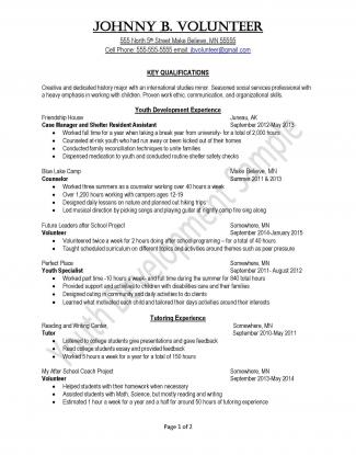 Peace Corps Youth Development Sample Resume